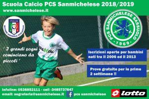 Iscrizioni Scuola Calcio 2018/2019