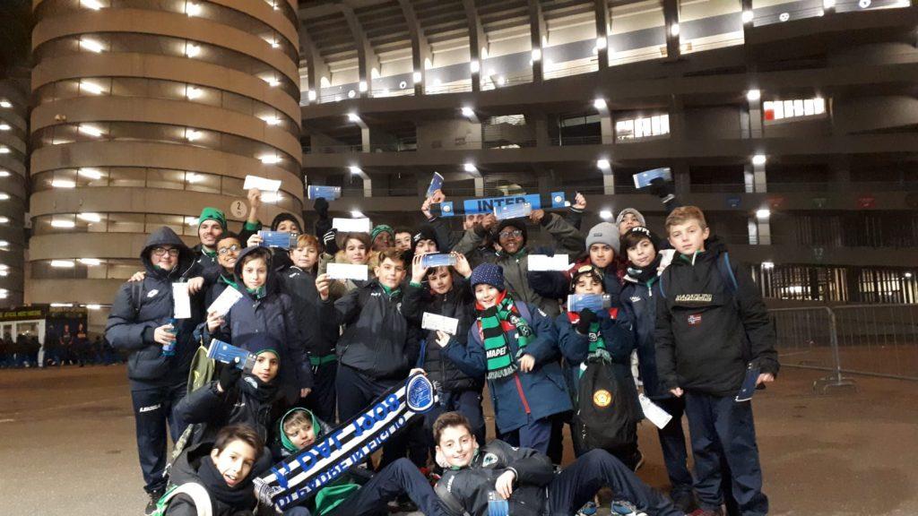 La Sanmichelese 2006 al San Siro per Inter-Sassuolo